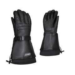 Glove-Deerskin-Flan.-Detach.-Thin.-Anti-snow-Strap at wrist