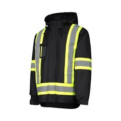 5 in 1 jacket-100% Poly.-Poly.-Heatlocker-Reflect.stripe