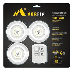 Lumière DEL-3 lumières DEL 150lumens-Télécommande