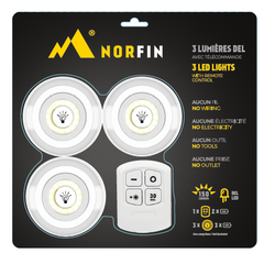 LED Light-3 LED lights 150lumens-Remote control