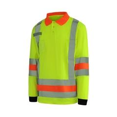 T-Shirt long sleeves-10/4 JOB Quick Dry-Reflect.stripe-Radio
