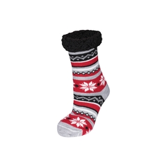 Slippers socks-Acry. knit-Poly.