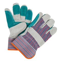 Glove-Cowsplit-Palm lined-Striped-Rubber.